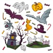Set of Halloween icons — Stockvectorbeeld