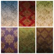 Set of seamless vintage background — Stok Vektör #6607904