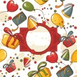 Royalty-Free Stock Vektorfiler: Happy birthday vector card