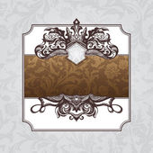 Královská ozdobné vintage rám — Stock vektor