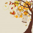 Vector autumn background - Stock Vector