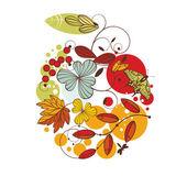 Floral autumn card — Stock Vector