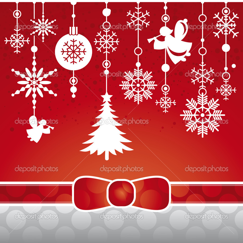 Abstract Christmas card with snowflakes vector illustration  Stock Vector #6735115