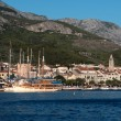 The resort town of Makarska in Croatia. — Stock Photo
