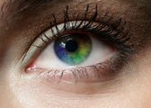Eyes of the girl — Stock Photo