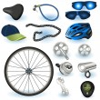 Bicycle equipment — Stock Vector