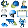 Stock Vector: Sport equipment icons 3