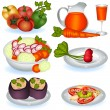 Vegetarian food 1 — Stock Vector