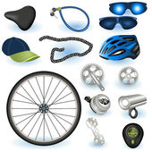 Bicycle equipment — Stock Vector