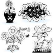 Collection of flowers 6 — Stock Vector