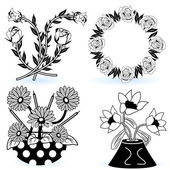Collection of flowers 7 — Stock Vector