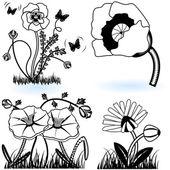 Colección de flores 9 — Vector de stock
