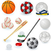 Sport equipment icons 1 — Stock Vector