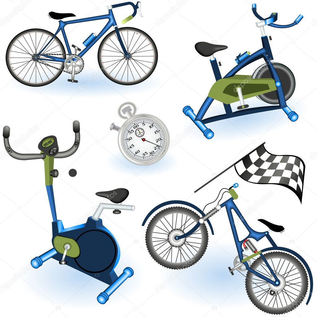 A collection of 6 different sport equipment elements - part 2 — Imagen vectorial #5459419