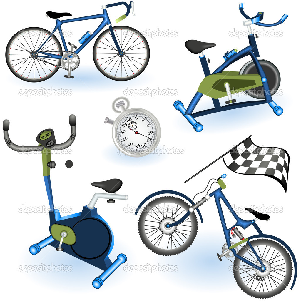 A collection of 6 different sport equipment elements - part 2  Stock Vector #5459419