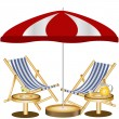 Two beach chairs — Imagen vectorial