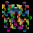 Puzzle background - Image vectorielle