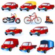 Royalty-Free Stock Vector Image: Vehicle icons