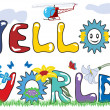 Hello world letters - Stock Vector
