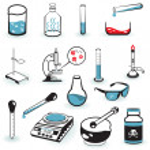 Laboratory tools — Stock Vector