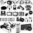 Royalty-Free Stock Vector Image: Shop pictogram icons 2