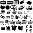 图库矢量图片: Shop pictogram icons 1
