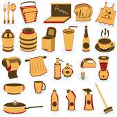 Restaurant supply icons — Stock Vector