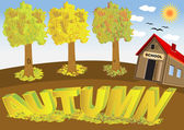 Autumn — Vector de stock