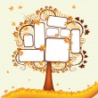 Stock Vector: Autumn tree with place for your text