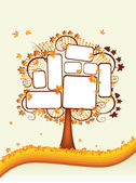 Autumn tree with place for your text — Stock Vector