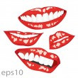 Lips vector — Stock vektor