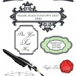 Royalty-Free Stock Vector Image: Vintage set of design elements