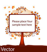 Blank tablet tree, vector — Stock Vector