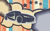 Car background — Wektor stockowy