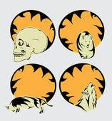 Halloween tribal - design elements — Stock Vector