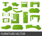 Furniture stickers , vector — ストックベクタ