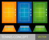 Tennis concept — Stock Vector