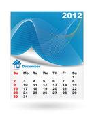 12 月-日历设计 2011 — 图库矢量图片