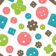 Seamless button pattern - Stock Vector
