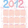 Stock Vector: Cute 2012 calendar