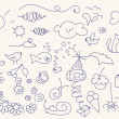 Royalty-Free Stock Vector Image: Cute doodle set