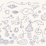 Cute doodle set — Stock Vector #6614327
