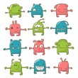 Cute monster set — Stock Vector #6614796