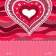 Pink heart card — Vector de stock