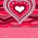 ピンクのハートのカード — ストックベクタ