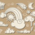Cute sky doodle — Stock Vector #6614918