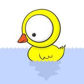 Big-eyed duck — Stock Vector