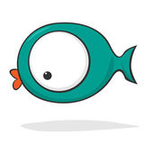 Cute cartoon fish — Stock Vector