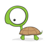 Big-eyed turtle — Stock Vector