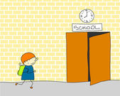Late for school — Stock Vector